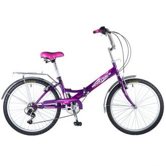 Велосипед городской дорожный  NOVATRACK 24 FS складной 6 скор